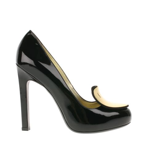 Yves Laurent Court Shoes by Laurent Patent Leather Court Shoes In Gold Lyst
