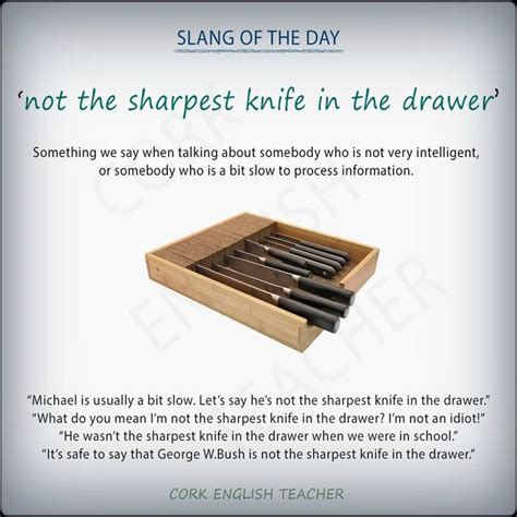 The Sharpest Knife In The Drawer by Not The Sharpest Knife In The Drawer Slang Informal