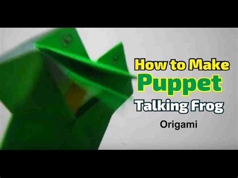 Origami Talking Frog - how to make paper puppet talking frog