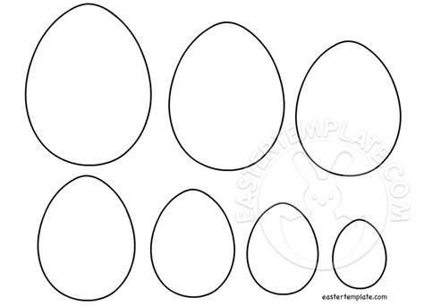 free easter egg template easter template