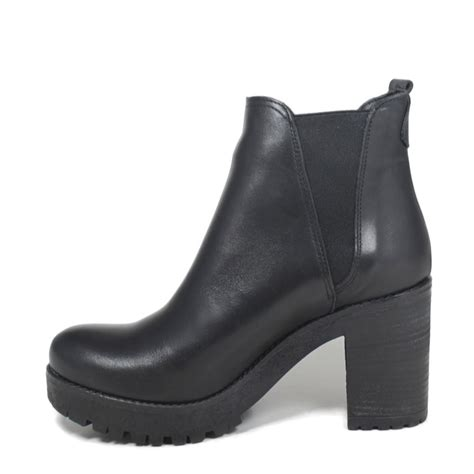 Ankle Chelsea Boots s ankle chelsea boots genuine leather black fall winter
