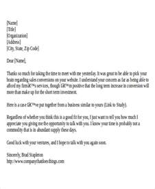 Thank You Letter Format For Business Meeting 25 Sle Thank You Letter Formats
