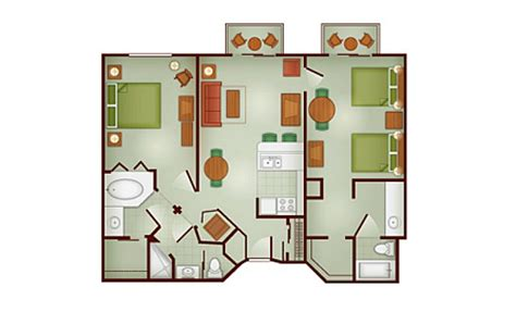 Disney Club 2 Bedroom Villa Floor Plan - the villas at disney s wilderness lodge dvc rental store