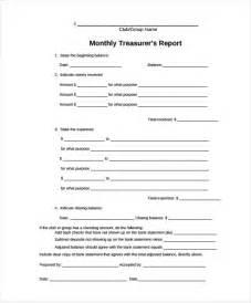non profit treasurer report template treasurer report template 10 free sle exle