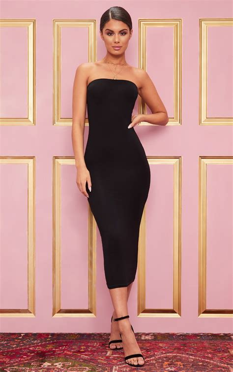 black bandau midaxi dress dealsforher