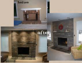 before and after fireplace designs in wood portfolio construction remodeling