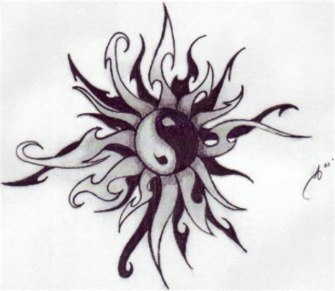 sun moon yin yang tattoo designs pelles gallery ideas by barton