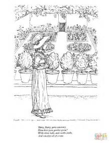 Mary Quite Contrary Nursery Rhyme Coloring Pages With Beautiful Coloring Pictures For Rhymes