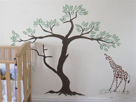 large tree template for wall painting palm trees on walls giraffe and acacia tree