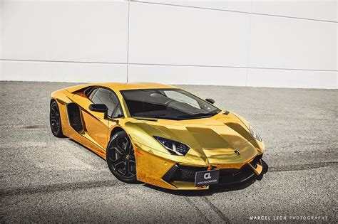 chrome gold chrome gold lamborghini aventador by marcel lech