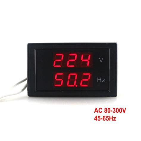 Hz Meter Frequency Meter Mf16 Selec dual display voltage frequency meter ac 80 300 0v 45 65hz