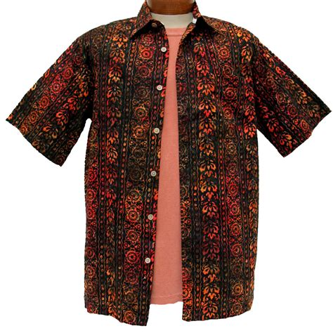 Sgort Batik s island by basic options 174 sleeve batik shirt 61740 6 orange sold out richard