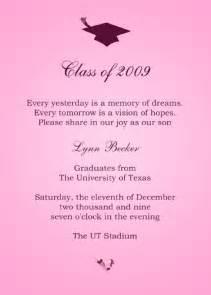 graduation invitation sle