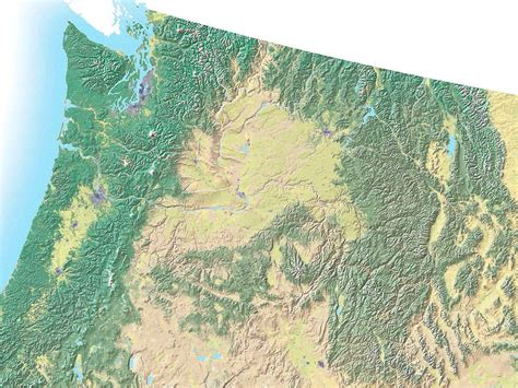road map nw usa northwest usa topo map idaho mappery