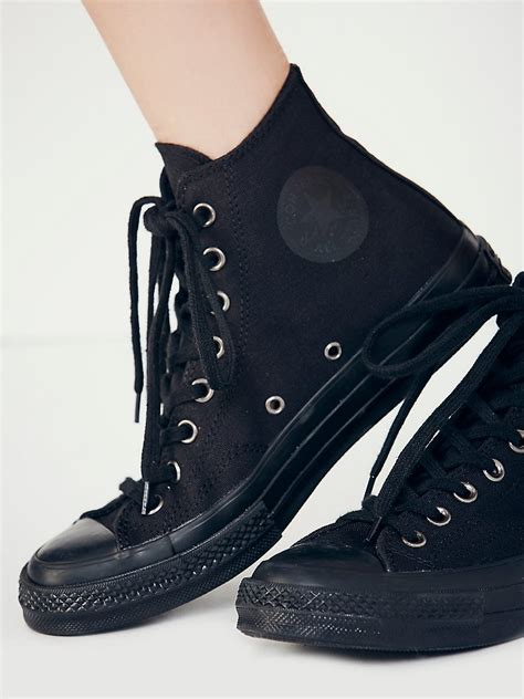 Monochrome Tops converse monochrome hi tops in black lyst
