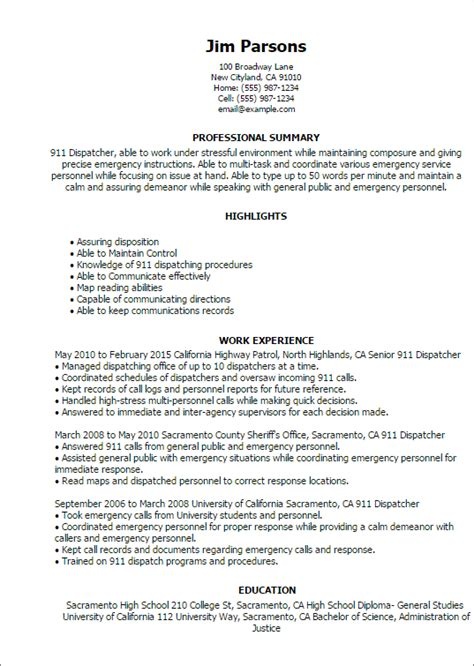 Dispatcher Resume by Dispatcher Duties For Resume Resume Ideas