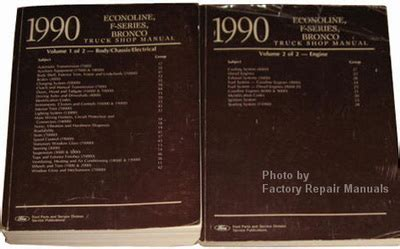 car maintenance manuals 1990 ford f series windshield wipe control service manual airbag 1990 ford f150 f250 f350 truck bronco econoline factory shop service manual set factory repair