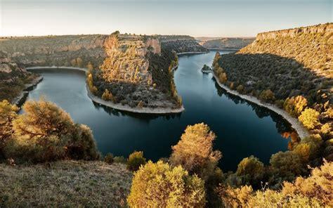 wallpapers rocks river autumn sunset river