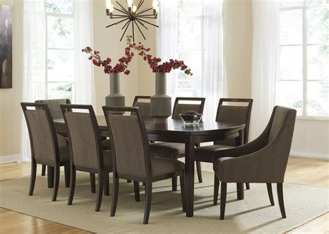 hurdsfield transitional style 9 dining table set