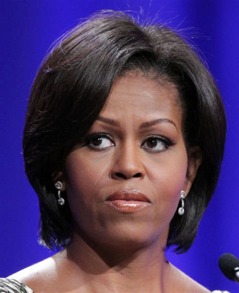 michelle obama without hair michelle obama bangs hair cut hairstyle galleries for
