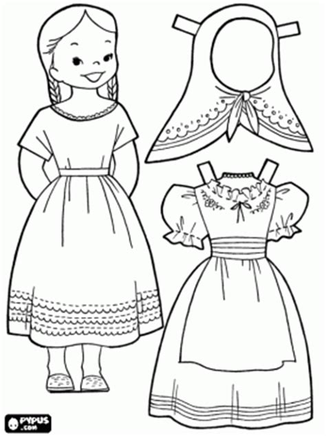 mexican girl coloring page both boy and girl mexican paperdolls to print out site