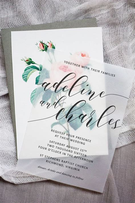 make these sweet floral wedding invitations using nothing more than a store bought template