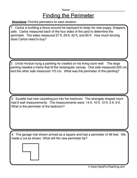 word printable area error area and perimeter word problem worksheets grade 4