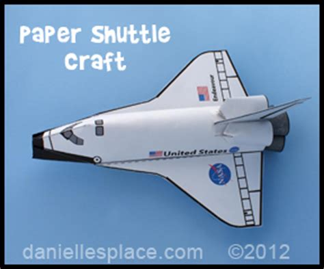 Space Shuttle Papercraft - free paper space shuttle craft patterns printable craft