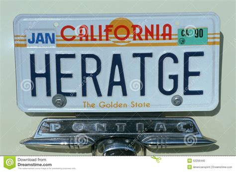 vanity license plate california editorial image image
