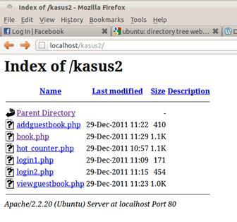 membuat file index html let share our knowledge mematikan direktori list di apache2