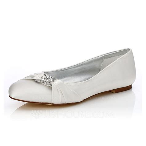 dyeable flat shoes s satin flat heel closed toe dyeable shoes with