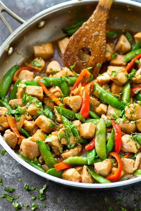 Todays Special Stir Fried Peking With Peppers And Green Beans by Chicken Snap Pea Stir Fry With Sweet Peppers