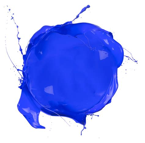 paint it blue paint blob blue glass halo marketing