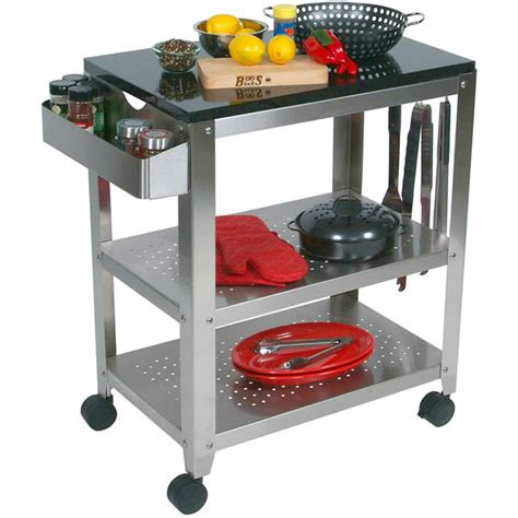 outdoor kitchen cart john boos stainless steel cucina americana avanti