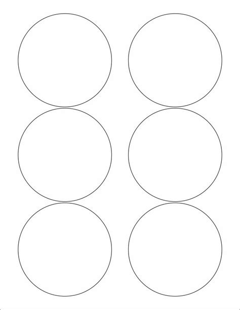 printable round stickers sheet 6 sheets 3 1 3 round circle blank white matte stickers