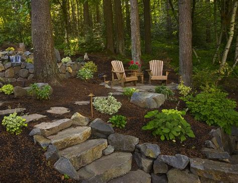 wooded backyard ideas gardens backyards and outdoor ideas on pinterest