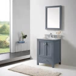 virtu usa caroline avenue 24 inch grey single bathroom