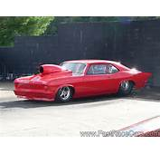 Drag Race Cars &gt Novas Picture Of Solid Red NOVA Car