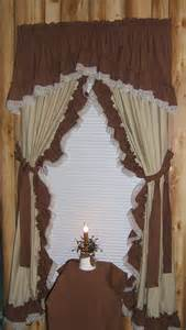 Country Ruffled Curtains Muslin Curtains Muslin Tea Dye Curtain With Ruffle Primitive Country Style Curtains Photo Album