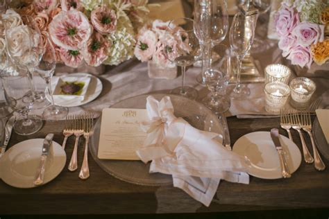 elegant reception table settings elizabeth anne designs pale pink white and gold reception table setting