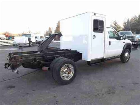 sell used ford f450 7 3 diesel sleeper cab chassis hoist