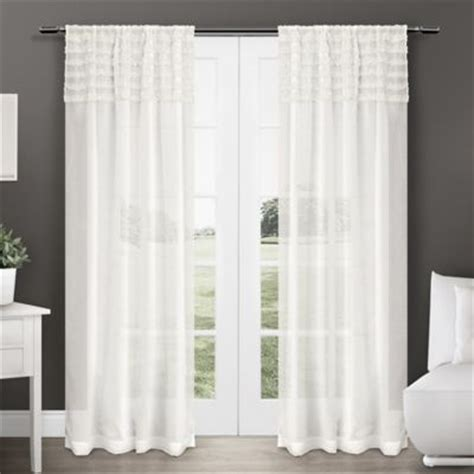 white semi sheer curtains buy exclusive home barcelona 84 inch rod pocket semi sheer