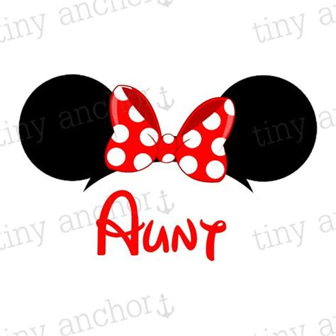 printable iron on minnie mouse printable aunt minnie mouse ears disney vacation iron on