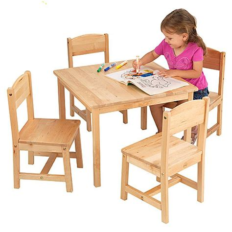 wooden table and chairs for children marceladick