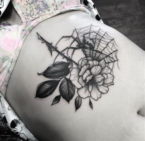 tattoo spider flower spider web ideas tattoo designs