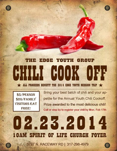 chili cook template free chili cook flyer search church cook