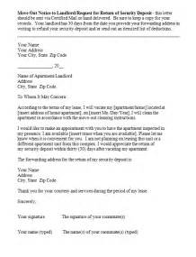 move out notice template sle of letter to landlord about moving cover letter