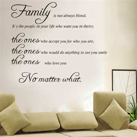 Wedding Quotes With Family by Aliexpress Buy Free Shipping Family Is Not Blood