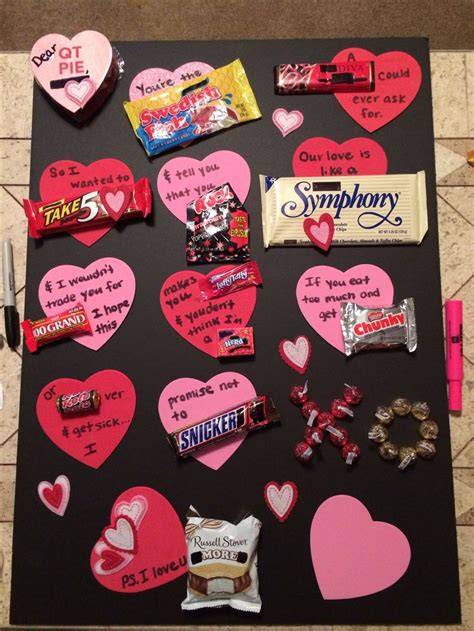 valentines day ideas for boyfriend diy candy bar valentine s day card gift for him use the