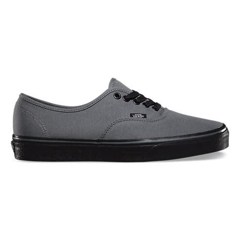 Vans Authentic Grey Black black sole authentic shop classic shoes at vans